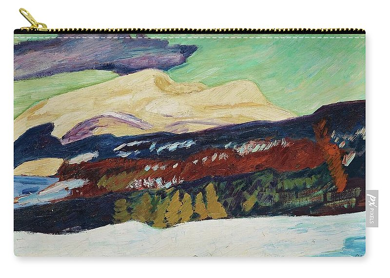 Helmer Osslund Carry-all Pouch featuring the painting Helmer Osslund, Areskutan Autumn by Adam Asar