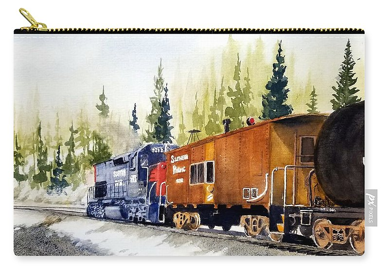 Southern Pacific Carry-all Pouch featuring the painting Helper Over Donner by Bruce Holder