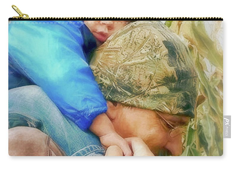 Kid Carry-all Pouch featuring the digital art Helping Hand by Rick Wiles