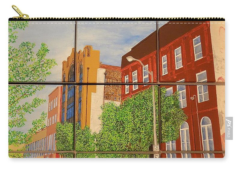 Street Carry-all Pouch featuring the painting Helping Up Mission by Paul Bashore
