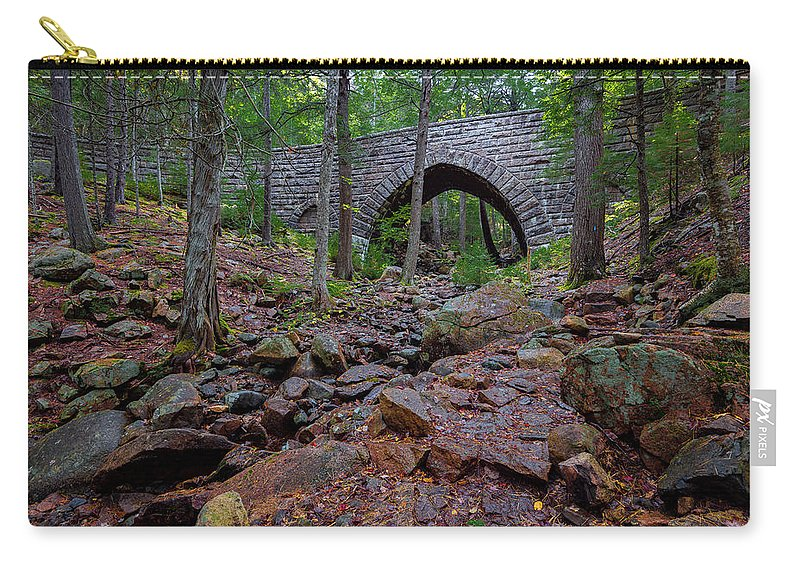 Acadia Carry-all Pouch featuring the photograph Hemlock Bridge by Gary Lengyel