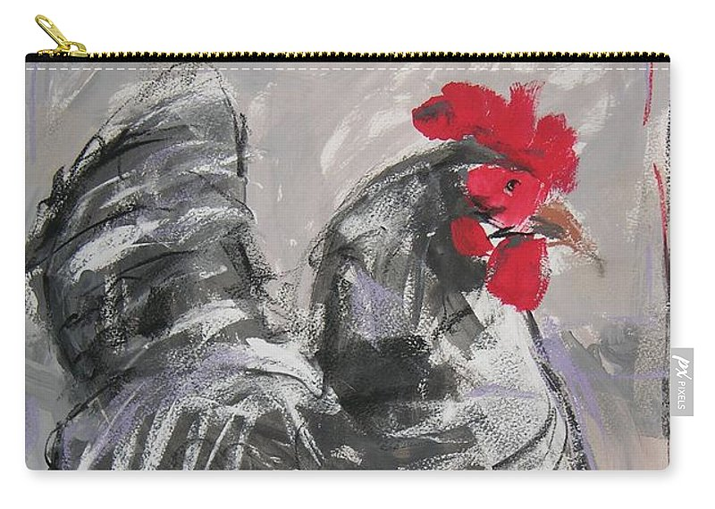 Hen Carry-all Pouch featuring the painting Hen II by Mary McInnis