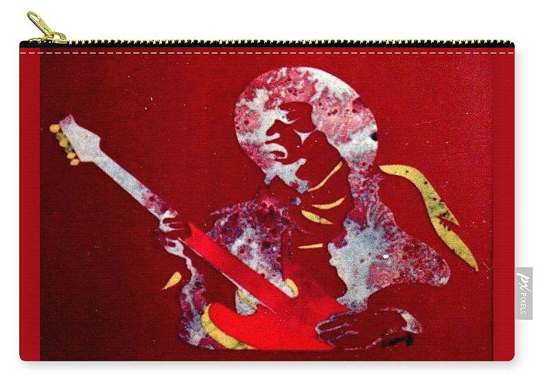 Hendrix Carry-all Pouch featuring the painting Hendrix by John Linden