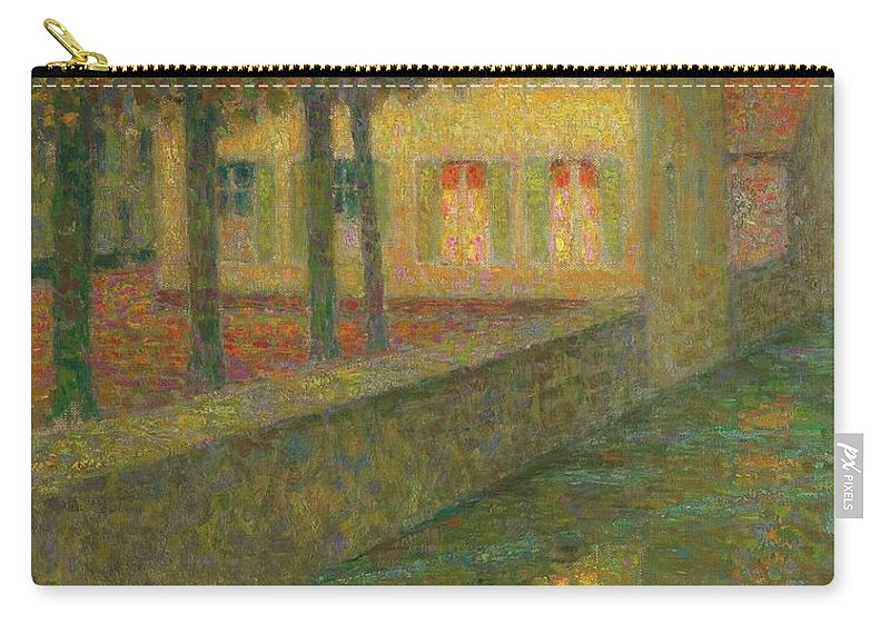 Henri Le Sidaner 1862 - 1939 Home Channel Carry-all Pouch featuring the painting Henri Le Sidaner 1862 - 1939 Home Channel by Adam Asar
