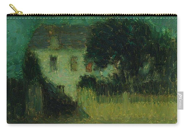 Henri Le Sidaner 1862 - 1939 Moonlight Carry-all Pouch featuring the painting Henri Le Sidaner 1862 - 1939 Moonlight by Adam Asar