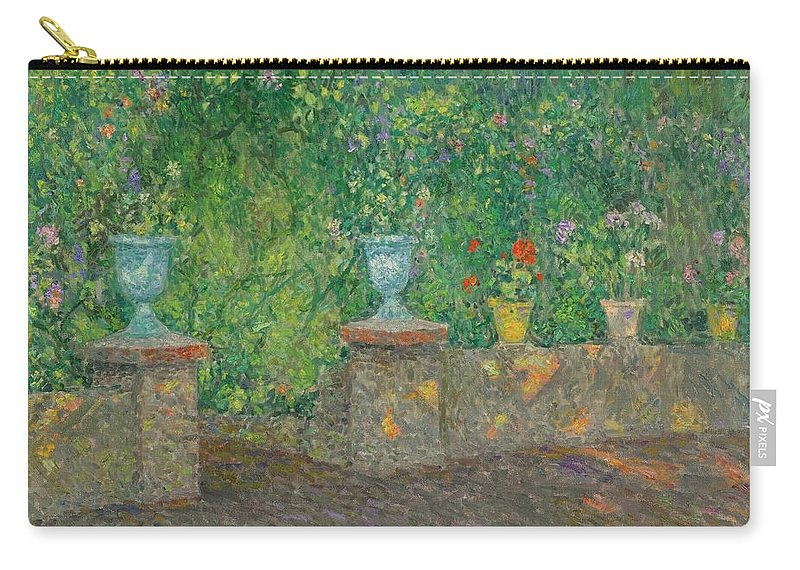 Henri Le Sidaner 1862 - 1939 The Pots FaÏence Carry-all Pouch featuring the painting Henri Le Sidaner 1862 - 1939 The Pots Faience by Adam Asar