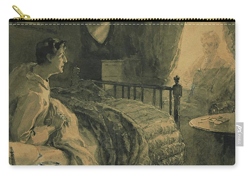 Henry Sandham Carry-all Pouch featuring the painting Apparation by Henry Sandham