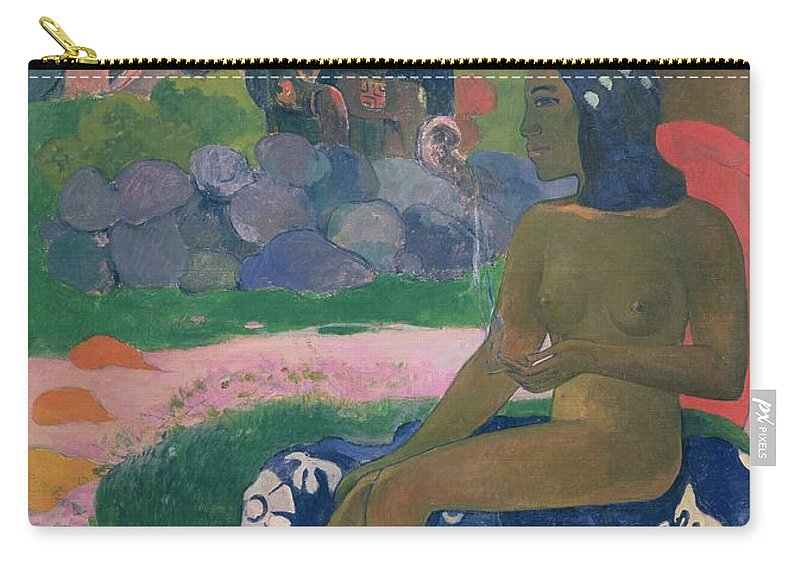 Vairaumati Tei Oa (her Name Is Vairaumati) Carry-all Pouch featuring the painting Her Name Is Vairaumati by Paul Gauguin
