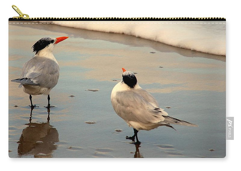Wildlife Carry-all Pouch featuring the photograph Her New Boyfriend by Susanne Van Hulst