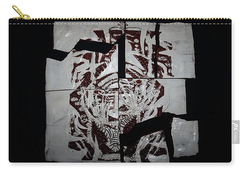 Jesus Elohimplaquesmamamama Africa Twojesus Carry-all Pouch featuring the ceramic art Herald by Gloria Ssali