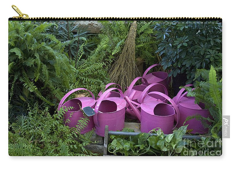 Watering Cans Carry-all Pouch featuring the photograph Herd Of Watering Cans by Crystal Nederman