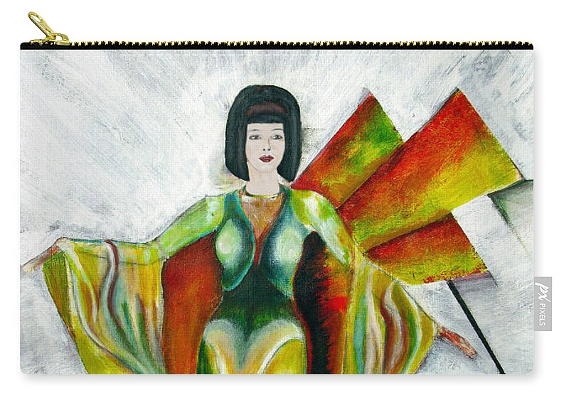 Dress Carry-all Pouch featuring the painting Here Comes The Sun by Tom Conway