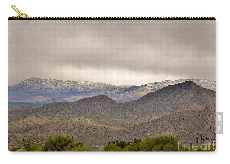 Arizona Landscape Carry-all Pouch featuring the photograph Here Comes The Sun by Marilyn Smith
