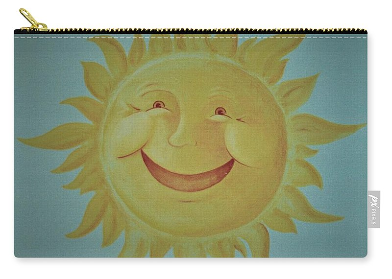 Sun Carry-all Pouch featuring the painting Here Comes The Sun by Suzn Art Memorial