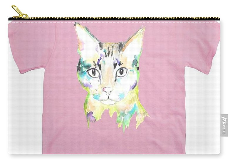 Carry-all Pouch featuring the painting Here Kitty by Herb Strobino