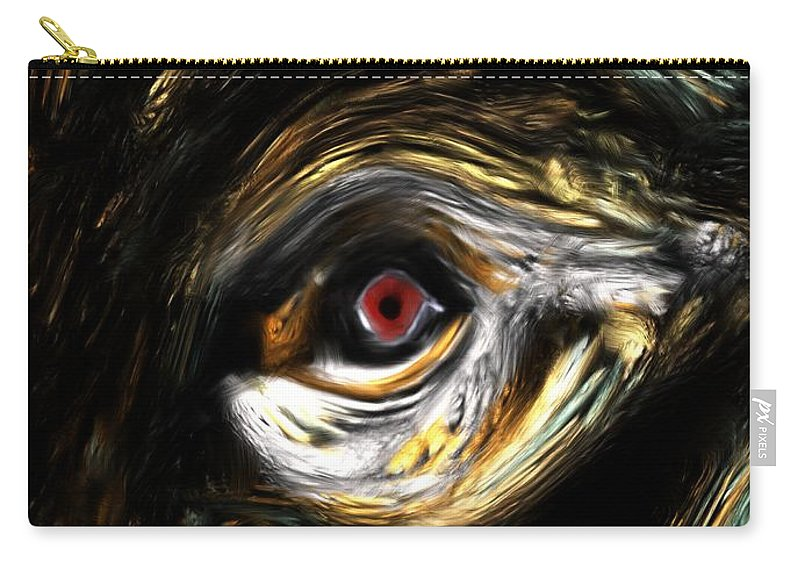 Abstract Digital Painting Carry-all Pouch featuring the digital art Here's Looking At You by David Lane