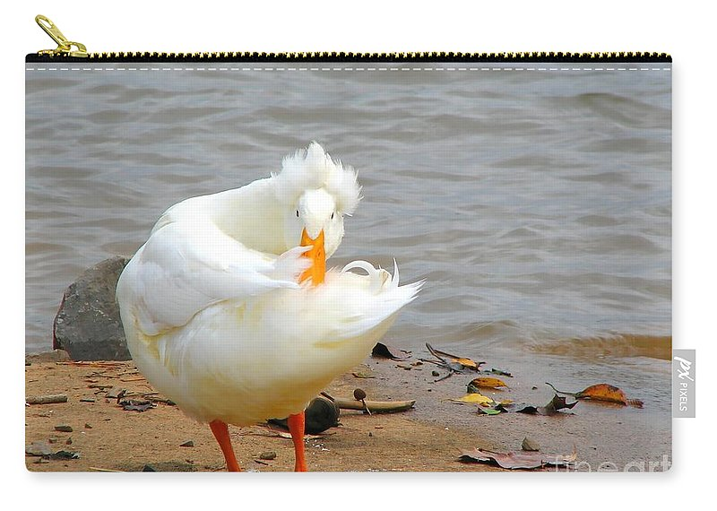 Duck Carry-all Pouch featuring the photograph Here's Looking At You by Todd Blanchard