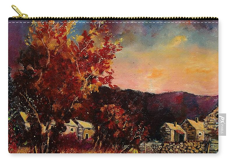 Tree Carry-all Pouch featuring the painting Herhet by Pol Ledent