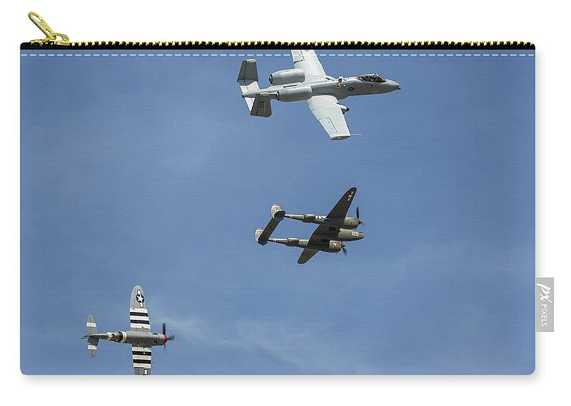 Heritage Carry-all Pouch featuring the photograph Heritage Flight Break by John Daly
