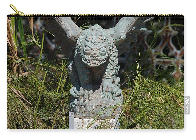 Gargoyle Carry-all Pouch featuring the photograph Herman Gargoyle by Rob Hans