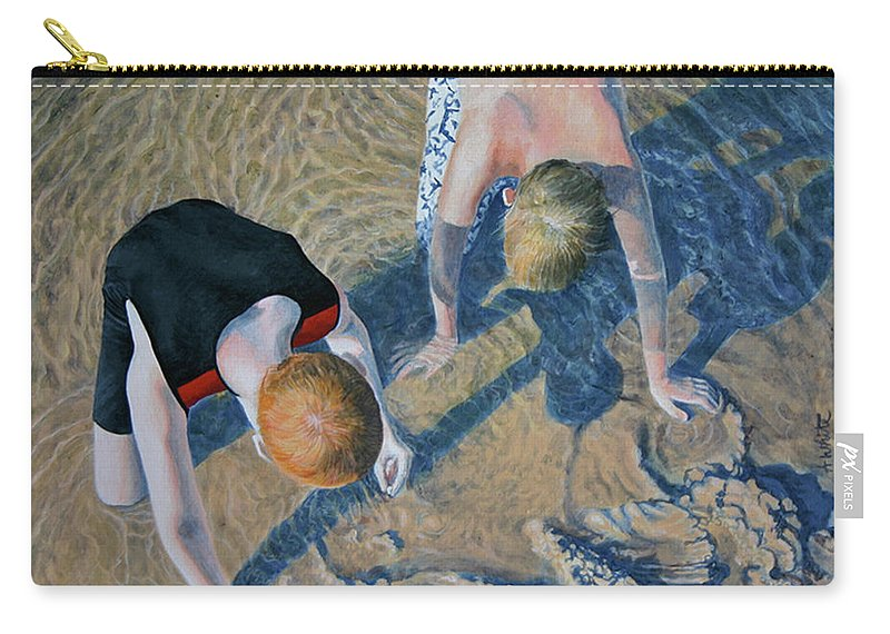 Boys Carry-all Pouch featuring the painting Hermit Crabs by Amy White