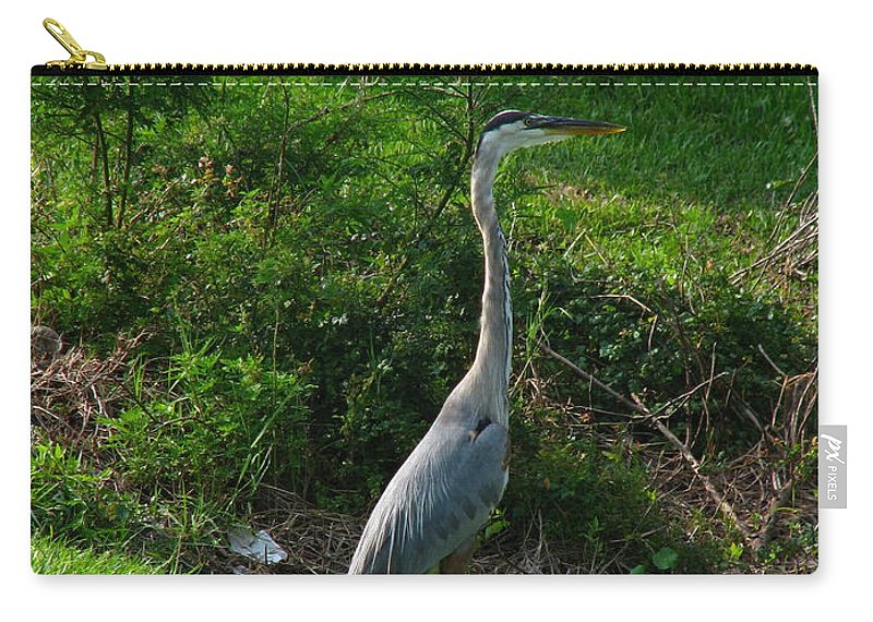 Patzer Carry-all Pouch featuring the photograph Heron Blue by Greg Patzer