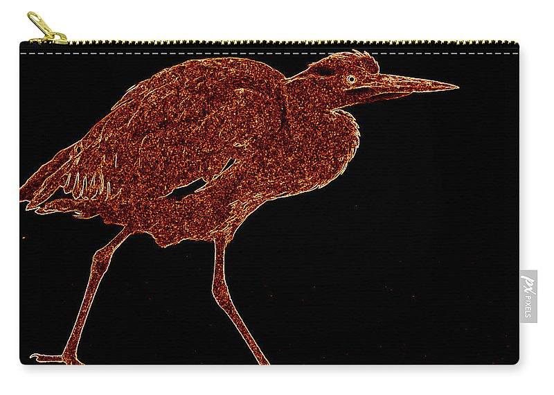 Heron Carry-all Pouch featuring the photograph Heron by James Hill