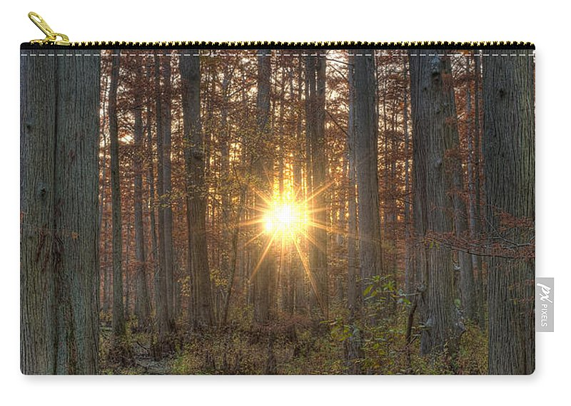 Illinois Carry-all Pouch featuring the photograph Heron Pond Sunrise by Steve Gadomski