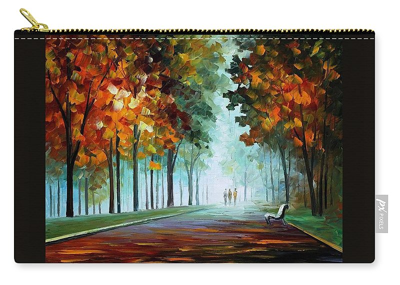 Afremov Carry-all Pouch featuring the painting Heros From The Fog by Leonid Afremov