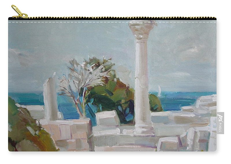Ignatenko Carry-all Pouch featuring the painting Hersoness by Sergey Ignatenko
