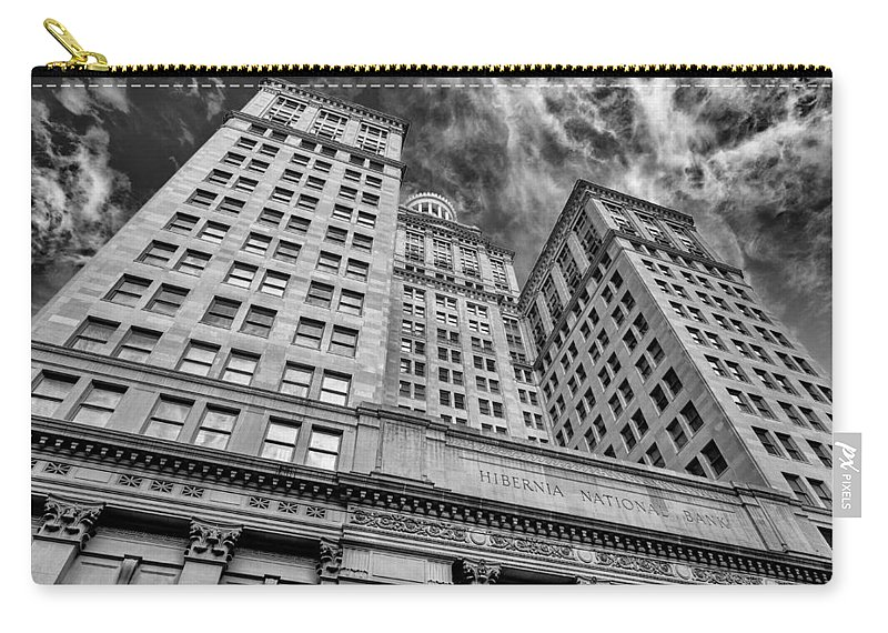 Architecture Carry-all Pouch featuring the photograph Hibernia National Bank by Raul Rodriguez