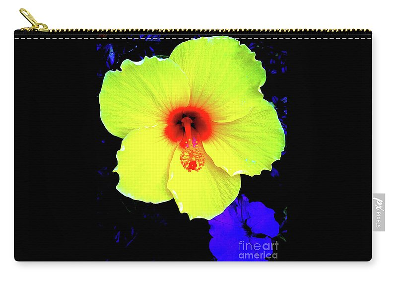 Hibiscus Carry-all Pouch featuring the photograph Hibiscus 10 by Ken Lerner