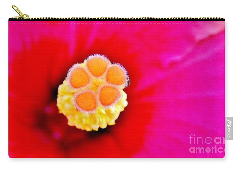 Tropical Floral Fusion Carry-all Pouch featuring the photograph Hibiscus Glow by Lisa Renee Ludlum