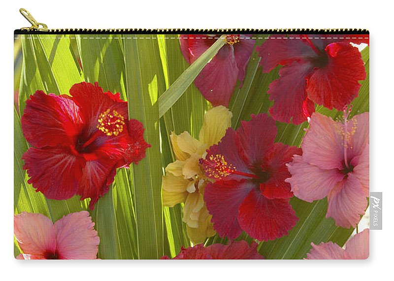 Above Carry-all Pouch featuring the photograph Hibiscus by Kyle Rothenborg - Printscapes