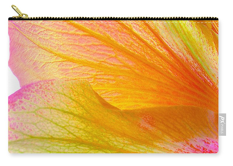 Macro Carry-all Pouch featuring the photograph Hibiscus Petals by Ruth Palmer
