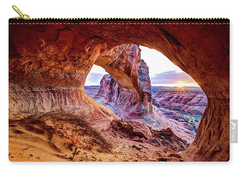 Hidden Carry-all Pouch featuring the photograph Hidden Alcove by Chad Dutson