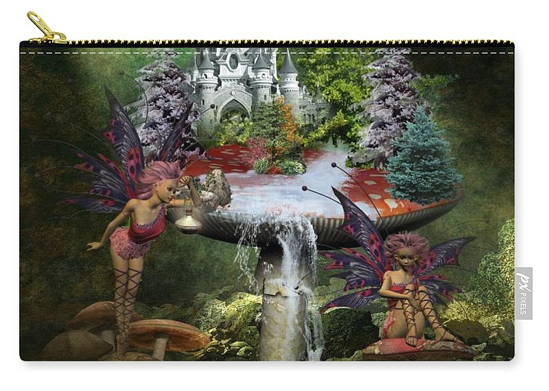 Fantasy Carry-all Pouch featuring the digital art Hidden Away by Ali Oppy