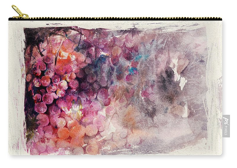 Grapes Carry-all Pouch featuring the painting Hidden Beauty by Rachel Christine Nowicki