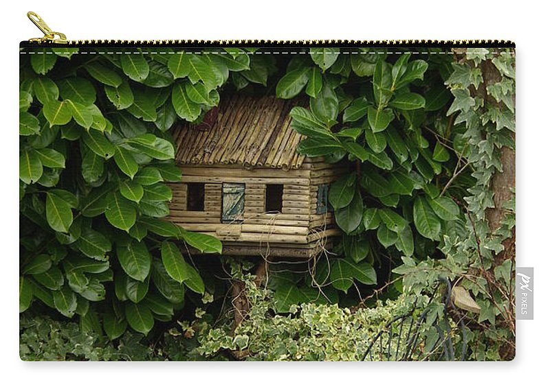 Hide Carry-all Pouch featuring the photograph Hidden Birdhouse by Cindy Johnston