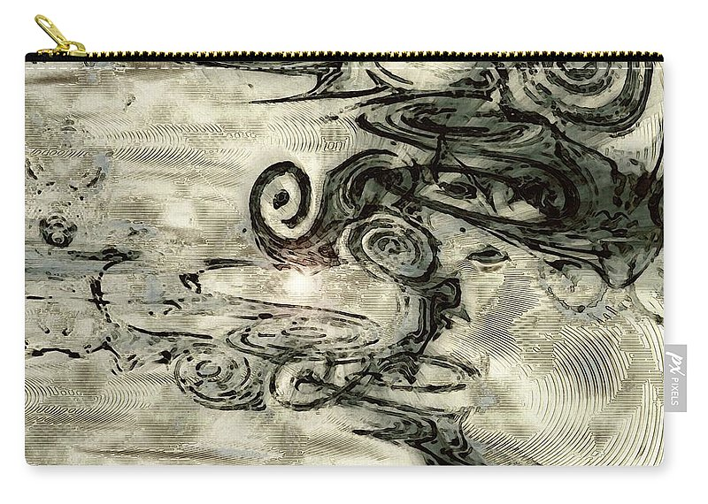 Hidden Dreams Art Carry-all Pouch featuring the digital art Hidden Dreams by Linda Sannuti