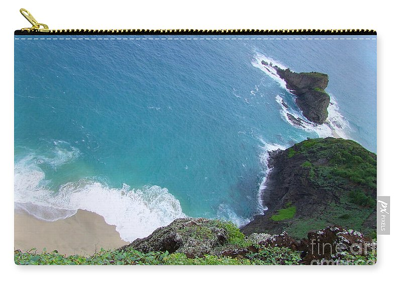 Blue Carry-all Pouch featuring the photograph Hidden Kilauea Beach by Mary Deal