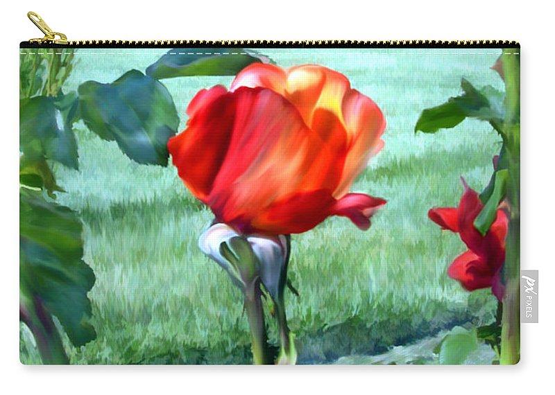 Rose Carry-all Pouch featuring the photograph Hidden by Kurt Van Wagner