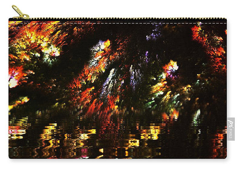Water Carry-all Pouch featuring the painting Hidden Lake by Steve K