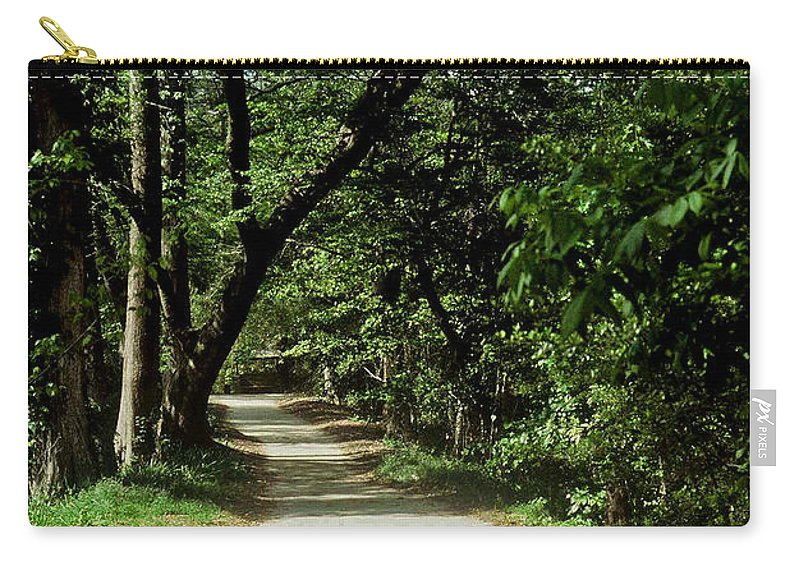 Path Carry-all Pouch featuring the photograph Hidden Path by Gary Wonning