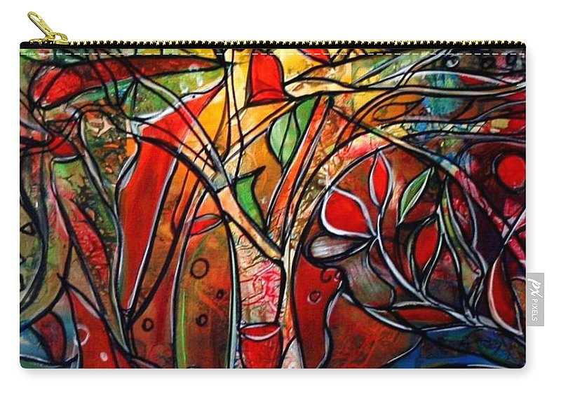 Landscape Carry-all Pouch featuring the painting Hidden Treasure by Luiza Vizoli