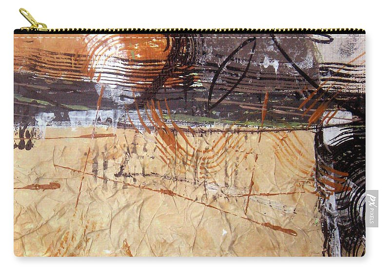 Abstract Carry-all Pouch featuring the painting Hidden Treasures II by Ruth Palmer