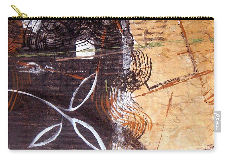 Abstract Carry-all Pouch featuring the painting Hidden Treasures by Ruth Palmer