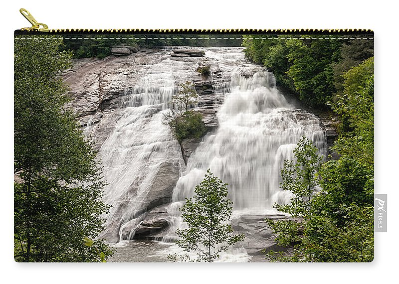 High Falls Carry-all Pouch featuring the photograph High Falls At Dupont Forest by Donald Spencer