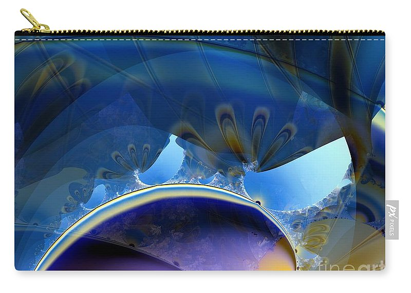 Lighter Than Air Carry-all Pouch featuring the digital art High In The Dirigible by Ron Bissett