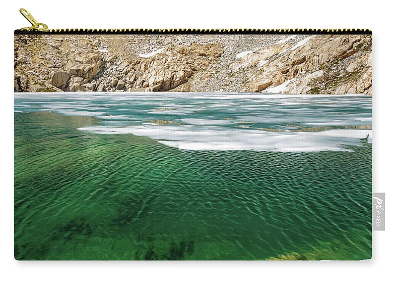 Evver G Photo Carry-all Pouch featuring the photograph High Sierra Tarn by Evver Gonzalez